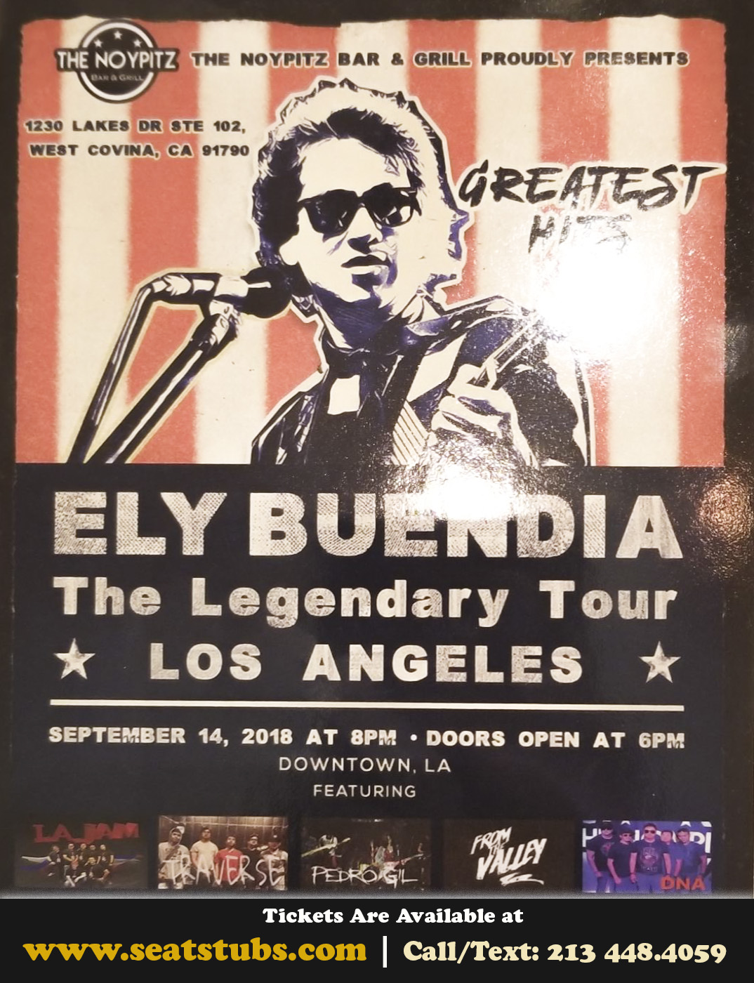 Buendia Live In Los Angeles September 14, 2018