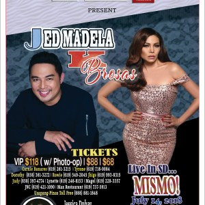 Jed Madela K Brosas Live In San Diego July 14, 2018 Buy Tickets