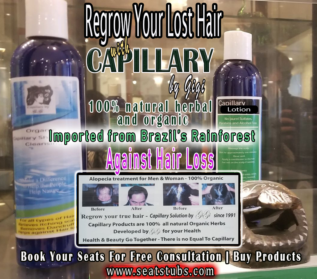 Regrow Hair Naturally with Capillary Cleansing Shampoo and Hair Grower Lotion by Gigi